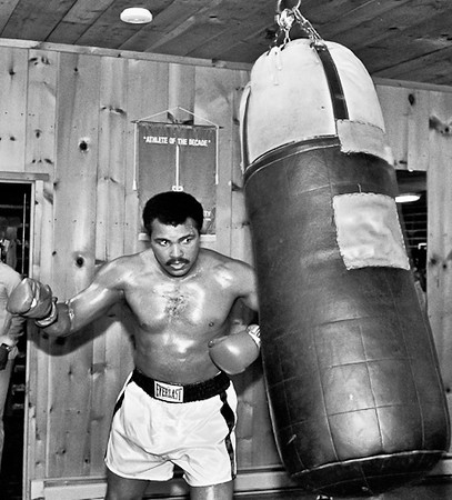 Muhammad Ali training at his Training Camp in Deer Lake, PA. September 1980