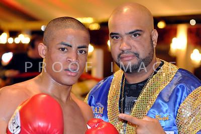 """Junior Welterweights (4 Rounds) Juan """"JZ"""" Zegarra (5-0, 5 KOs), North Bergen, NJ (140 lbs) With Team Zegarra member."""