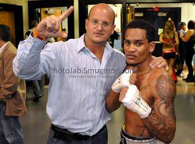 Post win on 10/16: Joseliz Cepeda 21 with Vincent Scolpino of VMS Management Inc.