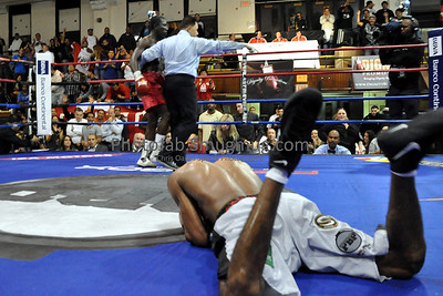 10/16/10 Fifth Bout in Union City, NJ: Co-Main Event..Undefeated Peruvian featherweight prospect Carlos Zambrano stayed perfect, rising to 12-0 (9 KO's) with his  impressive 8th round TKO victory over the usually rugged Lante Addy, who fell to 8-6 (5 KO's). Addy had never been stopped as a professional.