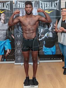 British Bantamweight Title Weigh in Ukashir Farooq  and Jamie Wilson