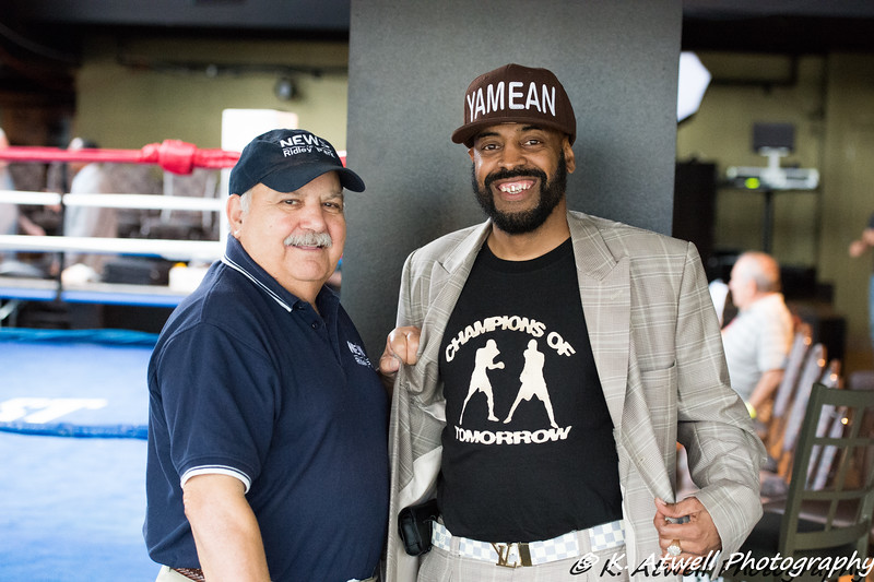 Charlie Maurone and Yamean, of Yamean Production and Promotions. Outstanding Gents !!