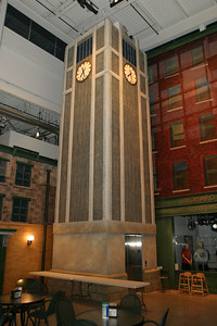 The Town Square Clock disguises the elevator