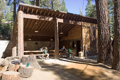 "The newest building at camp, the handicraft ""shack"""