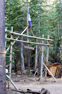The Scoutcraft area features all the basic Scouting skills, including using rope and wood to build things, first aid, etc.