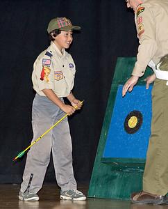 Jonny retrieves his arrow.