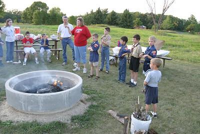 Cub Scout Campfire Cookout 8-30-2005