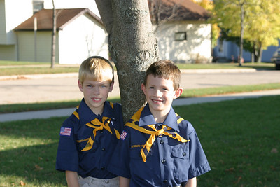 Spencer and Ande in New Cub Uniforms 10-20-2003