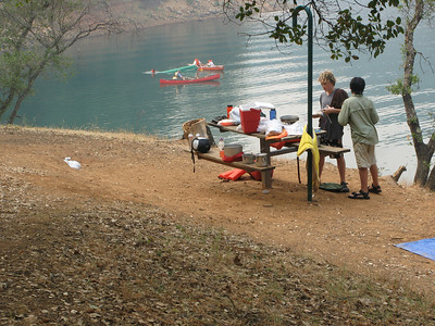 Alas, time for the cooks to get out of the water and start dinner.