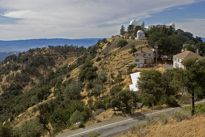 Looking back at the original buildings twoards San Jose from near the 120-inch telescope.