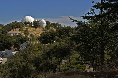The big dome is the giant 120-inch reflector telescope, currently the jewel of the Lick collection.