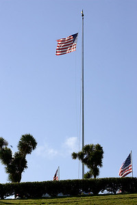 ...the main flag is lowered to half staff.