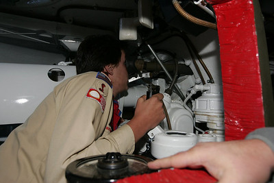 Inside the turret.