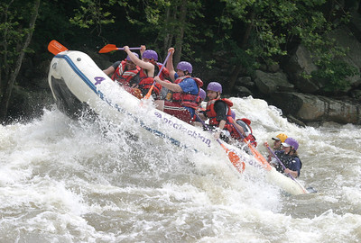 Scout trip whitewater rafting 2003