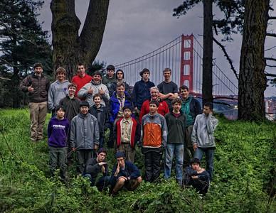 Urban hike and camp at Kirby Cove