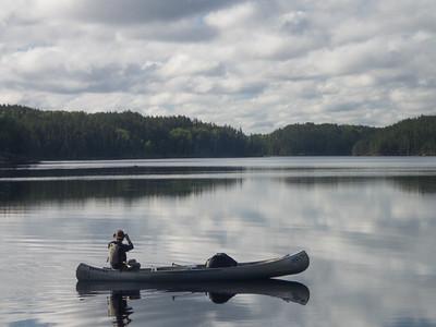 Moose Crossing the Lake!