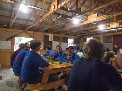 Eating dinner on base