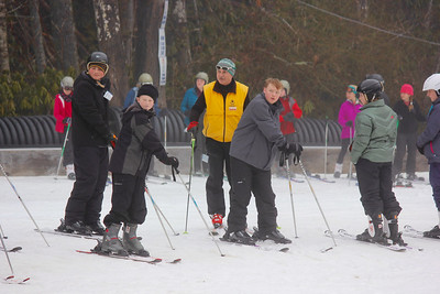 The Skiers Learning Their Skills