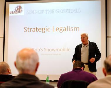 "Bob Weimann presents ""Strategic Legalism -- Indicator of Bad Strategy According to Boyd"""