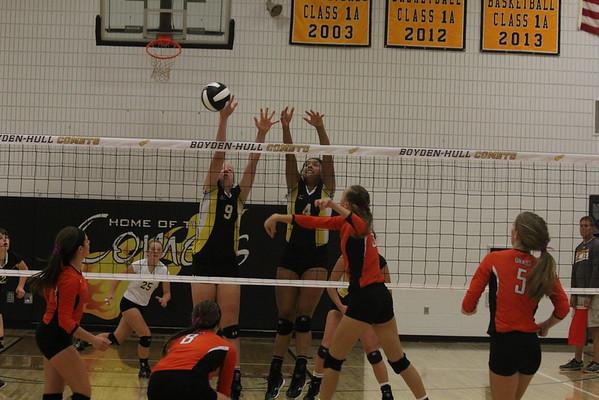 Boyden-Hull volleyball vs. Sheldon Orabs 9-4-16