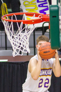 Record-Eagle/Brett A. Sommers Frankfort's Ethan Ness eyes a corner 3-pointer during Thursday's Division 4 state semifinal boys basketball game against Tri-unity Christian at the Breslin Center in East Lansing.