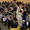 Oakmont Regional High School boys basketball played Leominster High School on Wednesday night, Feb. 5, 2020 in Ashburnham. LHS's #4 Jeramiah Paulino tries to stop a shot by ORHS's #10 Jordan Hatch. SENTINEL & ENTERPRISE/JOHN LOVE