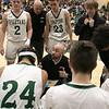 Oakmont Regional High School boys basketball played Leominster High School on Wednesday night, Feb. 5, 2020 in Ashburnham. Time out with ORHS's head coach Danny Ortiz. SENTINEL & ENTERPRISE/JOHN LOVE