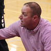 STAN HUDY - SHUDY@DIGITALFIRSTMEDIA.COM<br /> Mechanicville Coach Rian Richardson talks to his Red Raiders bench during a time out Tuesday night during Wasaren League action against rival Stillwater.