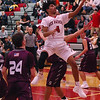 STAN HUDY - SHUDY@DIGITALFIRSTMEDIA.COM<br /> Mechanicville sophomore Kendrick McCann drives the lane and puts up a shot Tuesday night against Stillwater in Wasaren League action.
