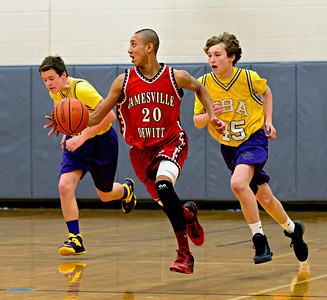 Jamesville-DeWitt vs CBA Freshmen Basketball Jan 15, 2014