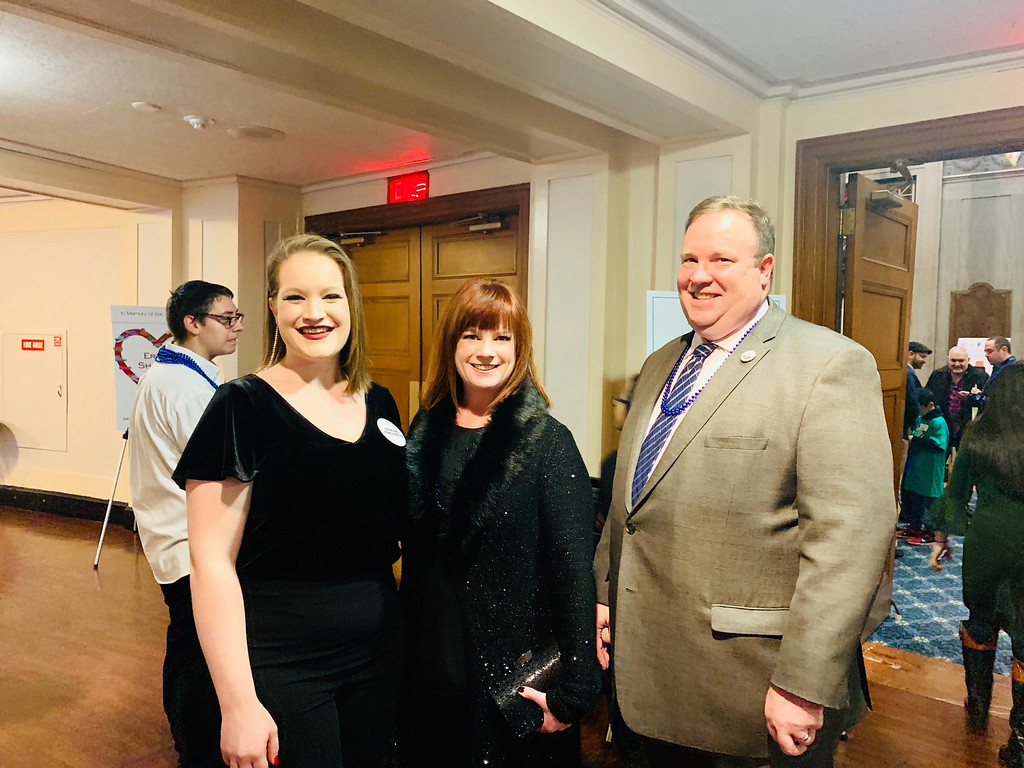 . From left, Katherine DeFronzo, board Chairwoman Justine DeFronzo and club Executive Director Joe Hungler, all of Lowell