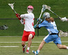 CVU's elliott Mitchel fires a shot on goal during the Redhawks championship game win over So Burlington.
