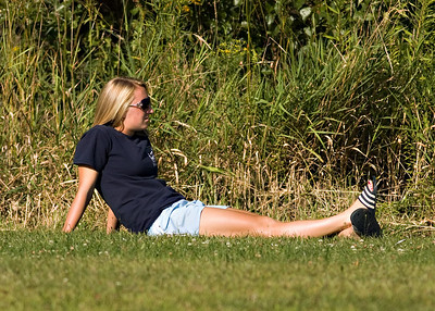 Faithful viewers may recognize Rob Wingert's sister Laura on the sidelines.  You can see lots more shots of Laura from the HR Girls soccer galleries from last season.