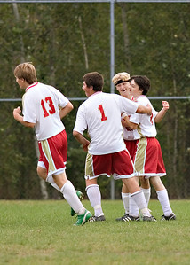 """""""Blue"""" had the assist on this JV goal- and it seemed to be the highlight of the day."""