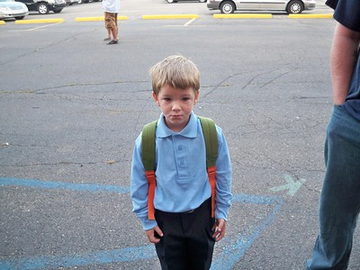 Brendan playing first day of school