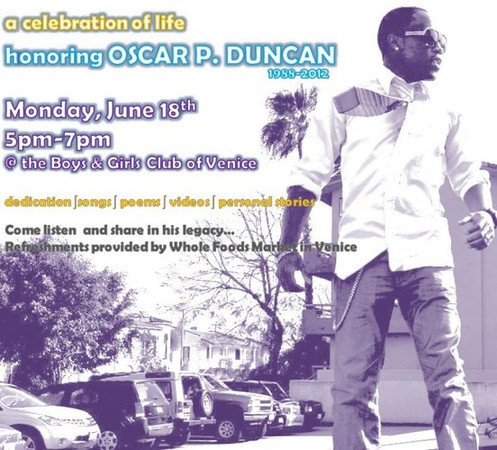 06.18.12  A Celebration of Life honoring Oscar Patrice Duncan