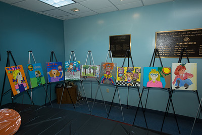 Boys and Girls Clubs of Broward County Junie B. Jones Art Contest Judging with Rick and Rita Case