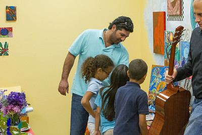 Jamali Gallery visits Art With A Heart at Jim and Jan Moran Boys and Girls Club