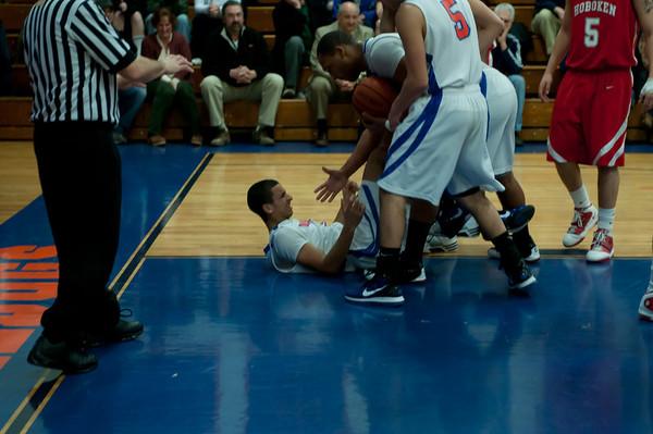 2011-03-03 Dayton Boys Varsity Basketball vs Hoboken #2 of 8