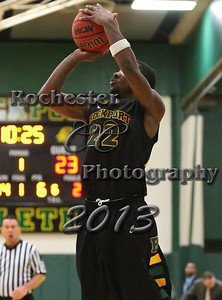 Brandon Caruthers during the Brockport Men's basketball game v. the Plattsburgh Cardinals at the Jim and John Vlogianitis Gymnasium in Brockport, NY Photo: Christopher Cecere