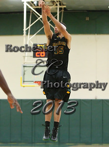 Jordan Major during the Brockport Men's basketball game v. the Plattsburgh Cardinals at the Jim and John Vlogianitis Gymnasium in Brockport, NY Photo: Christopher Cecere