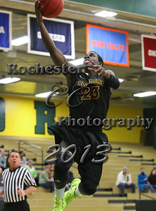 Lance Legister during the Brockport Men's basketball game v. the Plattsburgh Cardinals at the Jim and John Vlogianitis Gymnasium in Brockport, NY Photo: Christopher Cecere