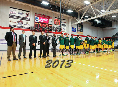 December 6, 2013;  Rochester, NY; USA; Brockport Golden Eagles vs. St. John Fisher Cardinals at Roberts Wesleyan Gymnasium  Photo: Christopher Cecere