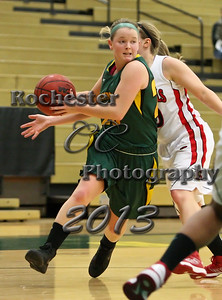 Kelly Grinnell during the Brockport Women's basketball game v. the Plattsburgh Cardinals at the Jim and John Vlogianitis Gymnasium in Brockport, NY Photo: Christopher Cecere