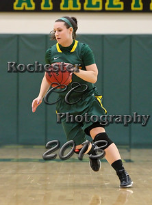 Phoebe Byrnes during the Brockport Women's basketball game v. the Plattsburgh Cardinals at the Jim and John Vlogianitis Gymnasium in Brockport, NY Photo: Christopher Cecere