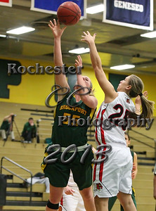 Cecilia Sigrist during the Brockport Women's basketball game v. the Plattsburgh Cardinals at the Jim and John Vlogianitis Gymnasium in Brockport, NY Photo: Christopher Cecere