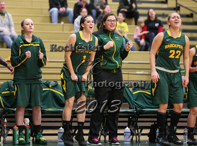 November 16, 2013;  Brockport, NY; USA; Brockport Golden Eagles Women's Basketball vs. Nazareth Golden Flyers at Jim and John Vlogianitis Gymnasium  Photo: Christopher Cecere