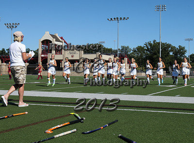 September 4, 2013;  Pittsford, NY; USA; Brockport Field Hockey vs. St. John Fisher at Growney Stadium  Photo: Christopher Cecere