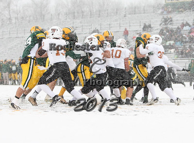 November 23, 2013;  Brockport, NY; USA; ECAC Northwest Bowl Game: Brockport Golden Eagles vs. Waynesburg Yellow Jackets at Bob Boozer Field  Photo: Christopher Cecere