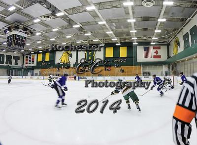 January 10, 2014;  Brockport, NY; USA; Brockport Golden Eagles Hockey vs. Stonehill Skyhawks at Tuttle Ice Rink  Photo: Christopher Cecere